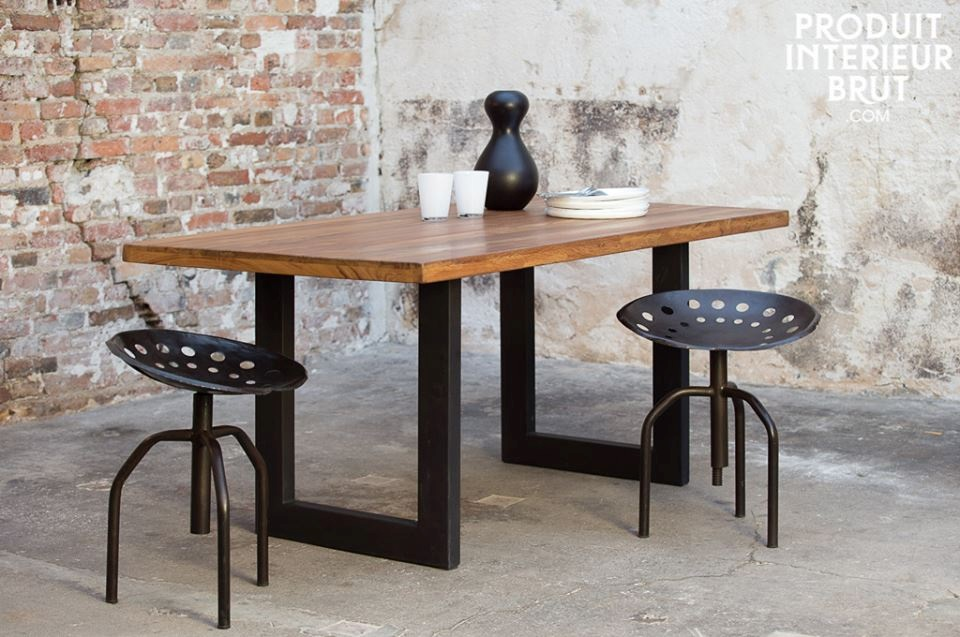 Le design industriel maison et d coration - Table industrielle pas cher ...